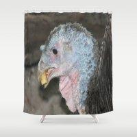 turkey Shower Curtains featuring Turkey by Twilight Wolf