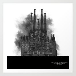 HexArchi - Spain, Barcelona, Basilica and Expiatory Church of the Holy Family Art Print