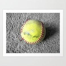 The Softball Art Print