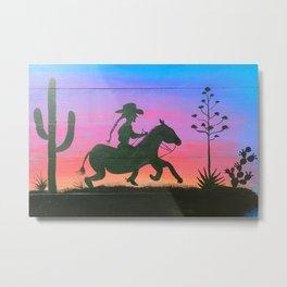 Desert Pony Metal Print