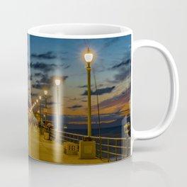 Looking Down the Pier Coffee Mug