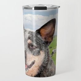 Australian Cattle Dog Blue Travel Mug