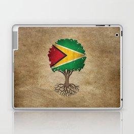 Vintage Tree of Life with Flag of Guyana Laptop & iPad Skin