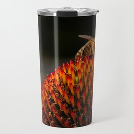Honeybee on the Echinacea Travel Mug