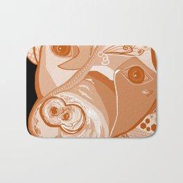 Pit Bull Sepia Tones Bath Mat