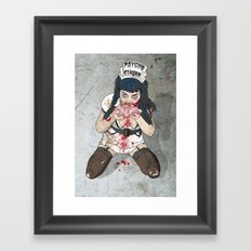 Brainssssss Framed Art Print