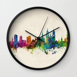 St Gallen Switzerland Skyline Wall Clock