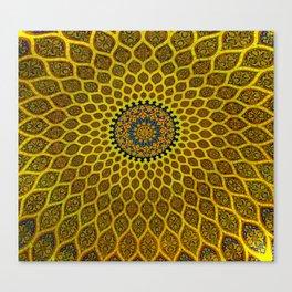Yellow Arabic Mosaic Canvas Print