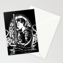Warrior princess white and black Stationery Cards
