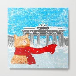 Berlin Snowcat Metal Print
