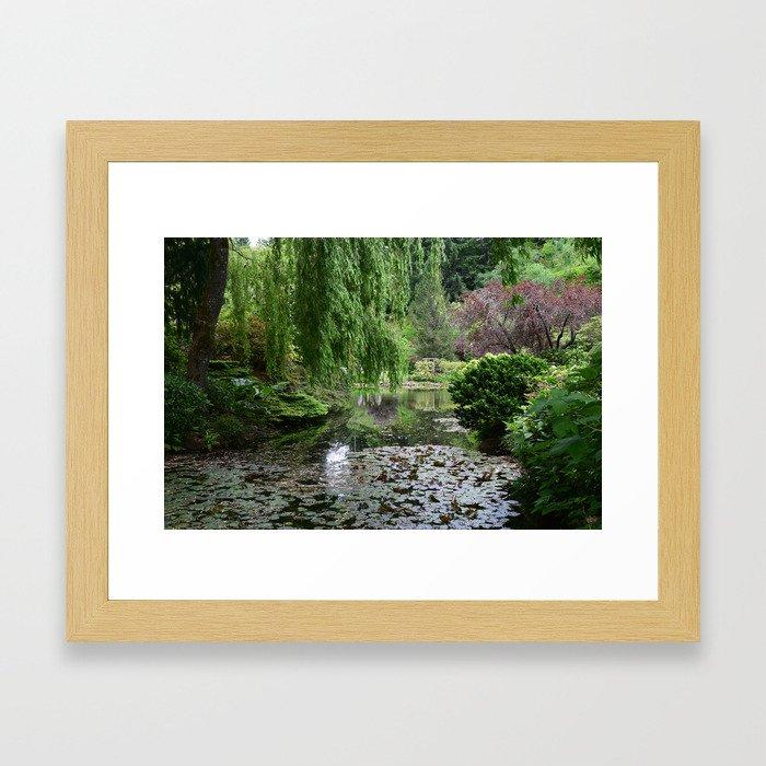 Water Garden Framed Art Print