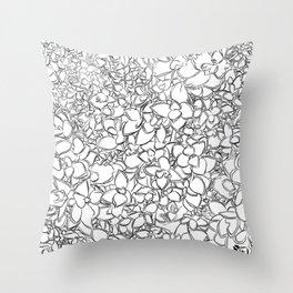 Winter Creeper Line Art Throw Pillow
