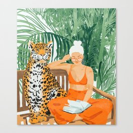 Jungle Vacay #painting #illustration Canvas Print