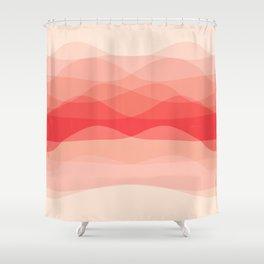 Waves: Dreamy Peach Shower Curtain