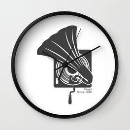 Gramophone, Vinyl since 1988 Wall Clock