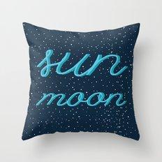 The Sun & the Moon Throw Pillow