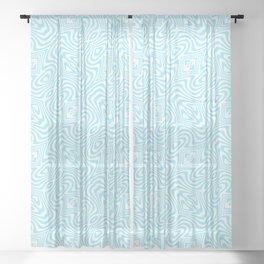 Cyan Pattern 1 Sheer Curtain