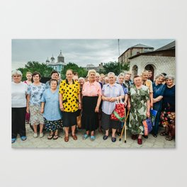 Babushki (Grandmothers) in Moldova Canvas Print