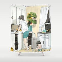 Kitchen, 3am Shower Curtain
