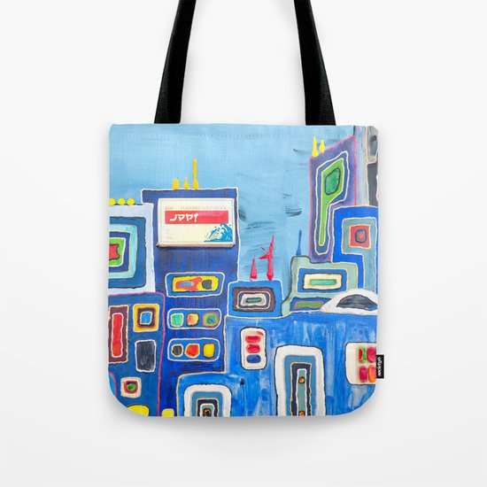 Urban Colorful City Tote Bag