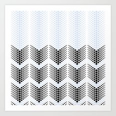 pattern series 052 halftone chevron Art Print