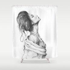 Pretty Lady Illustration Woman Portrait Beauty Shower Curtain