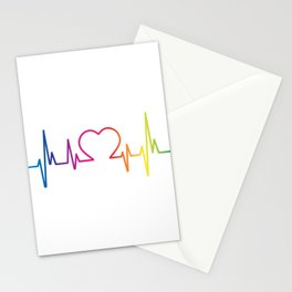 Heartbeat LGBT Pride Stationery Cards