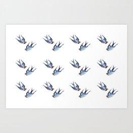 Swallows bohemians Art Print