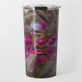 Fruits of Autumn in bold pink Travel Mug