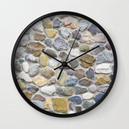 Wall pebble pattern Wall Clock