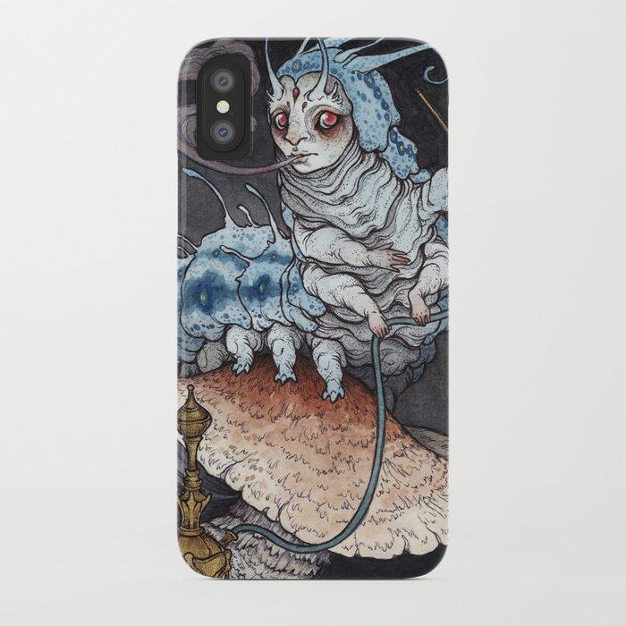 Absolem the Blue Caterpillar art print iPhone Case