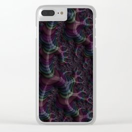 Branching Rainbow Fractal Clear iPhone Case