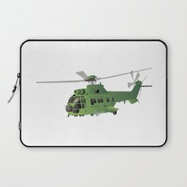 Green Vector Helicopter Laptop Sleeve