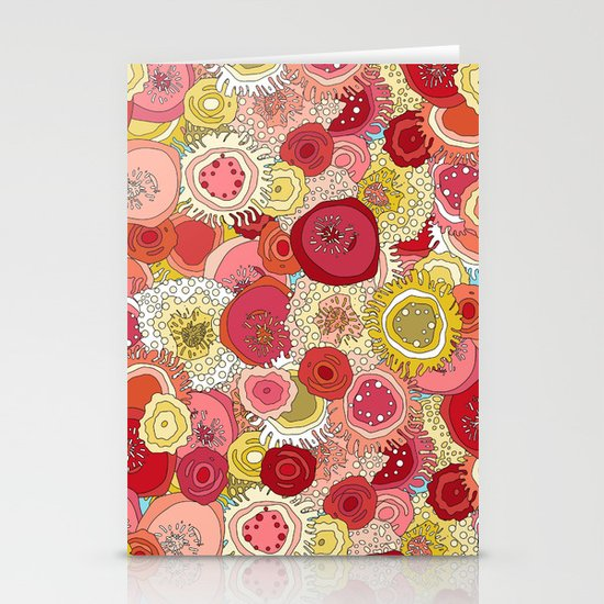 coral garden Stationery Cards
