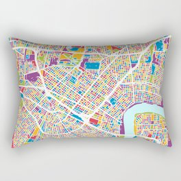 New Orleans Street Map Rectangular Pillow