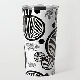 Zebra Circles Travel Mug