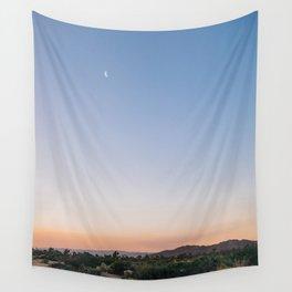 Harvest Moon and Desert Sky 2 Wall Tapestry