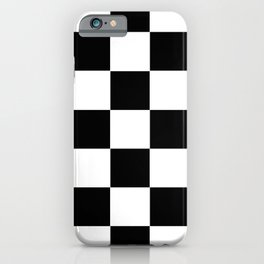 Traditional Black And White Chequered Start Flag iPhone Case