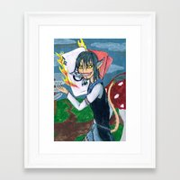 cheshire Framed Art Prints featuring Cheshire by SofusGirl
