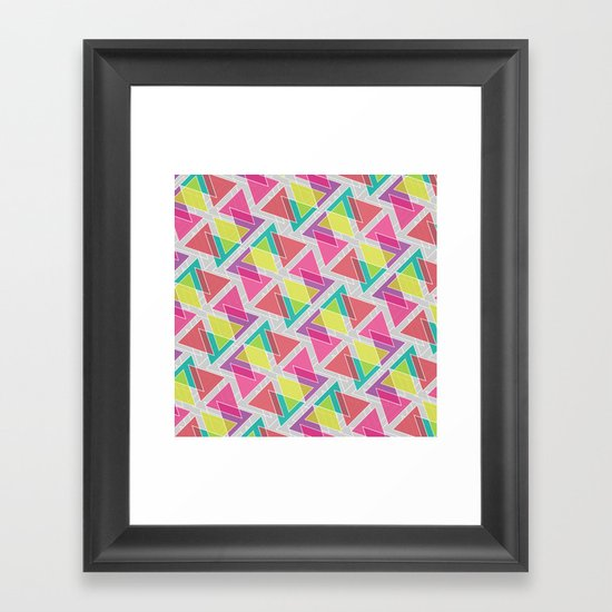 Let's Celebrate The Triangle Framed Art Print