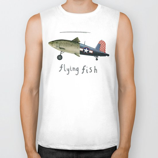 flying fish Biker Tank