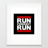 forrest gump Framed Art Prints featuring Forrest Gump Run by Spyck