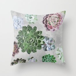Simple succulents Throw Pillow