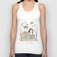 scully Tank Tops featuring Mulder and Scully 4Ever by Mali Fischer