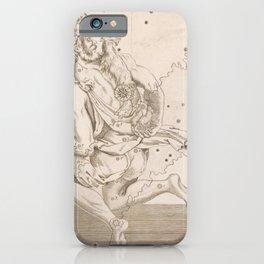 Johann Bayer - Uranometria / Measuring the Heavens (1661) - 12 Auriga iPhone Case