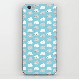Happy and Sad Kawaii Clouds iPhone Skin