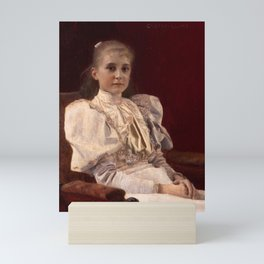"Gustav Klimt ""Seated Young Girl"" Mini Art Print"