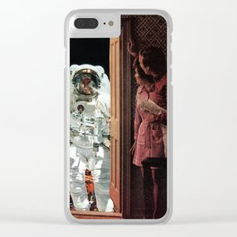 Astronaut at the Door Clear iPhone Case