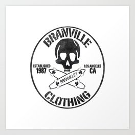 BV Retro Skate Art Print