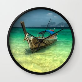 Thailand Longboat Wall Clock